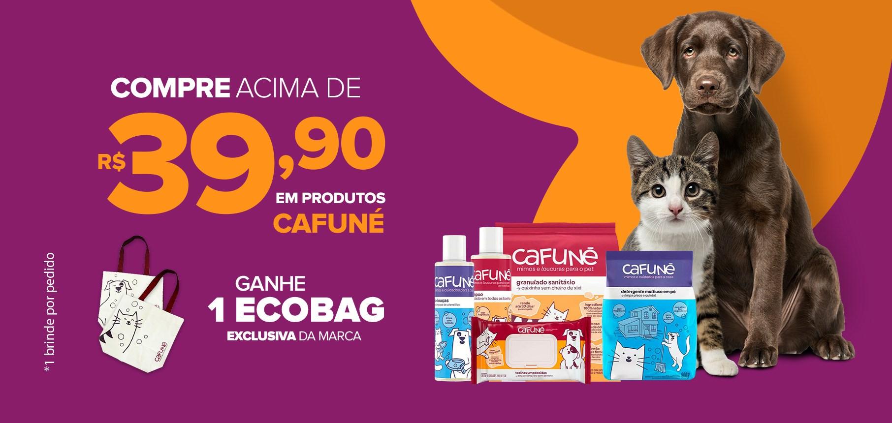 Ganhe 1 ecobag em compras acima de R$39,9 produtos Cafuné