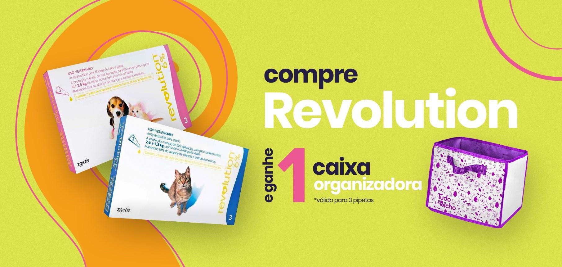 Compre Revolution c/3 e ganhe 1 caixa organizadora