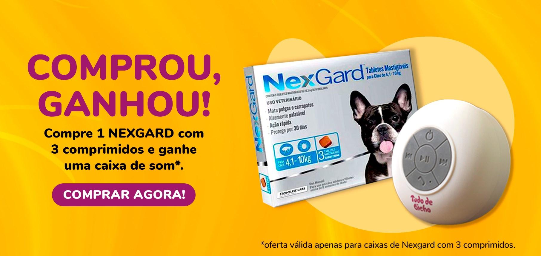Banner Nexgard + Caixa de Som