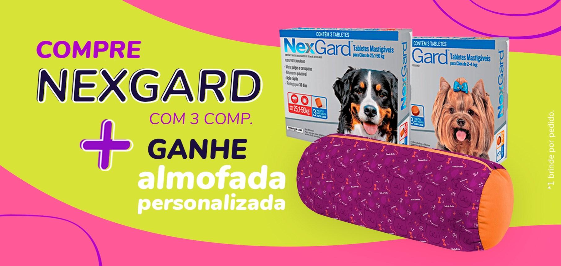 Compre Nexgard 3 comp + Almofada rolinho TDB