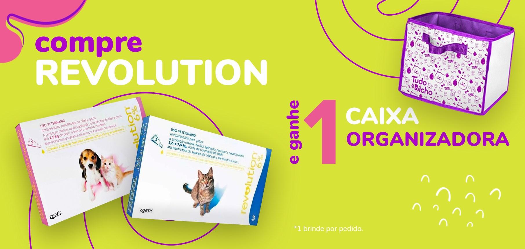 Compre Revolution e ganhe 1 caixa organizadora TDB