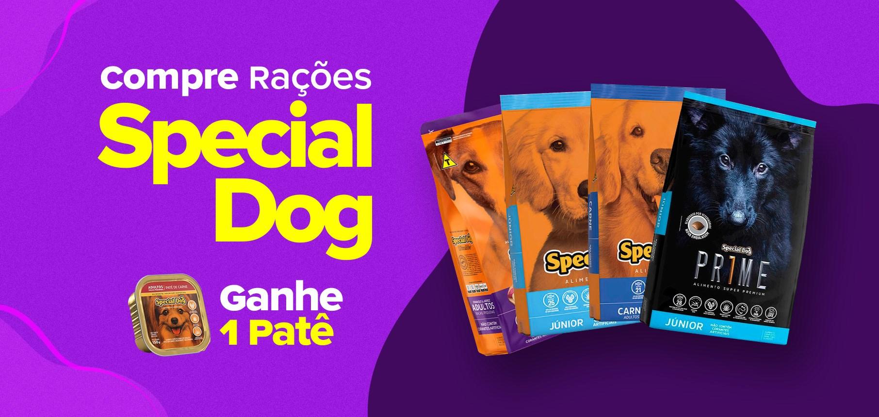Compre ração Special Dog e ganhe 1 patê