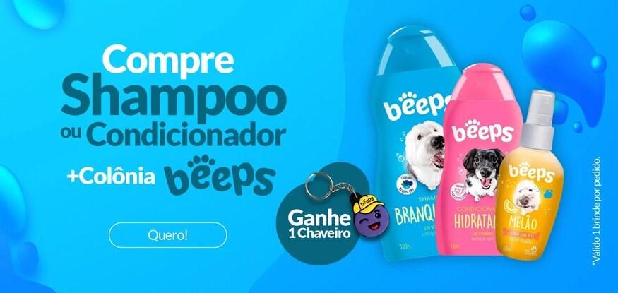 Compre Shampoo/Cond+Colônia Beeps e ganhe chaveiro
