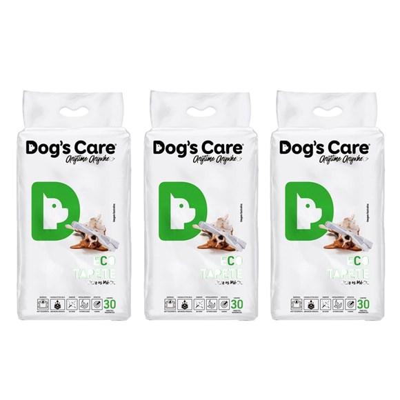 3 Tapetes Higiênicos Dog's Care Cães Porte Médio 90un. 60x80