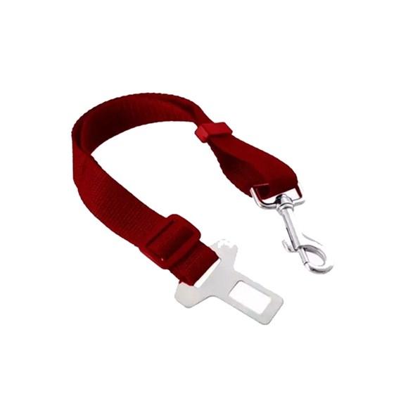 Adaptador Cinto de Segurança para Cães e Gatos para Carro One Dog Vermelho