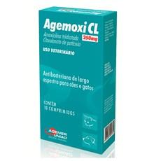 Agemoxi Cl Cães E Gatos 250mg 10 Comprimidos Agener União