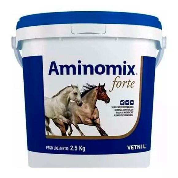 Aminomix Forte Balde Suplemento Para Cavalos Atletas - 2,5kg