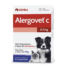 Anti-histamínico Alergovet Cães E Gatos Coveli – 0,7mg