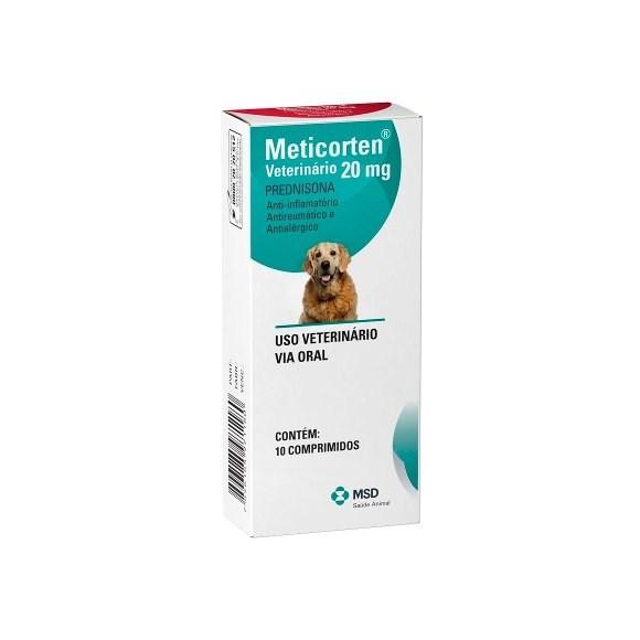 Anti-inflamatorio P/ Caes Meticorten 20mg 10 Comprimidos Msd
