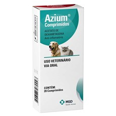 Anti-inflamatorio Para Caes E Gatos Azium 20 Comprimidos Msd