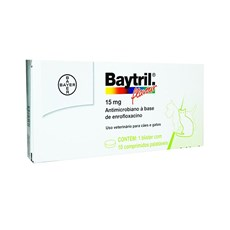 Antibiotico Baytril Flavour Caes e Gatos 15mg Bayer