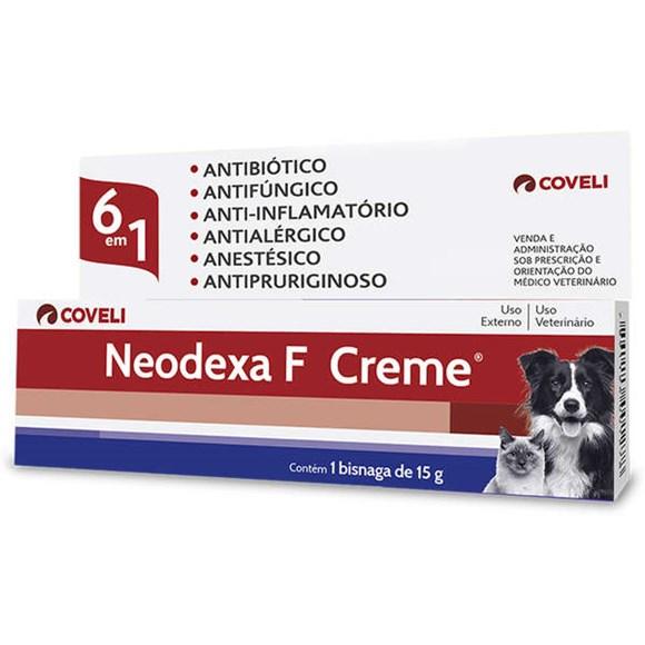 Antibiótico Neodexa F Creme Cães e Gatos Coveli – 15g