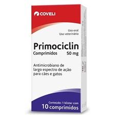 Antimicrobiano Primocilim 50mg Coveli C/10 Comprimidos