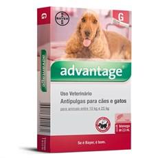 Antipulgas Advantage Caes e Gatos 10Kg Ate 25Kg Bayer