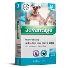 Antipulgas Advantage Caes e Gatos 4Kg Ate 10Kg Bayer