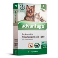 Antipulgas Advantage Caes e Gatos Ate 4Kg Bayer