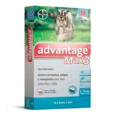 Antipulgas e Carrapatos Advantage Max3 Caes 4Kg Ate 10Kg Bayer