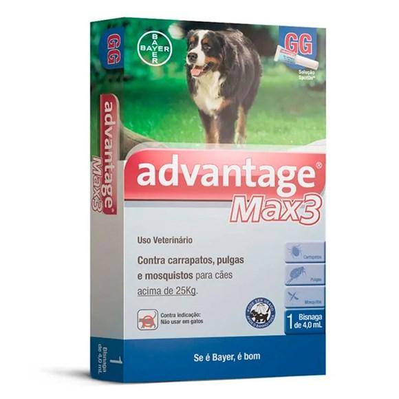 Antipulgas e Carrapatos Advantage Max3 Caes Acima De 25Kg Bayer