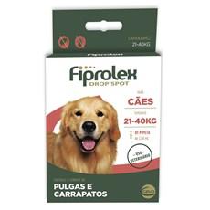 Antipulgas E Carrapatos Fiprolex Drop Spot P/ Cães 21 A 40kg
