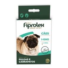 Antipulgas E Carrapatos Fiprolex Drop Spot P/ Cães Até 10kg