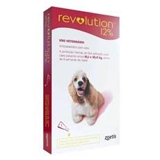 Antipulgas Revolution 12% Cães 10,1 a 20Kg - Zoetis