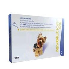 Antipulgas Revolution 12% Cães 2,6 a 5Kg C/3 Pipetas - Zoetis