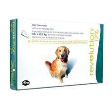Antipulgas Revolution 12% Cães 20,1 a 40Kg C/3 Pipetas - Zoetis