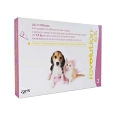 Antipulgas Revolution 6% Filhotes Cães e Gatos Até 2,5Kg C/3 Pipetas – Zoetis