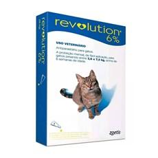 Antipulgas Revolution 6% Para Gatos De 2,6 A 7,5kg - Zoetis