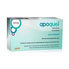 Apoquel 3,6mg Remédio para Dermatite Canina c/ 20 Comprimidos