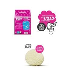 Areia Higiênica Hello Kitty Biodegradável Fina Rosa - 2Kg