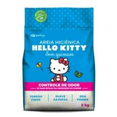 Areia Higiênica Hello Kitty Clássica Azul - 2Kg