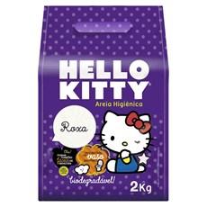 Areia Higienica Hello Kitty Roxa - 2Kg