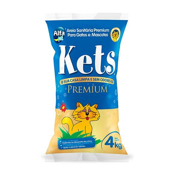 Areia Higiênica Kets Premium Gatos– 4kg