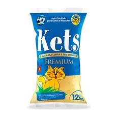 Areia Higiênica Kets Premium Gatos – 12kg