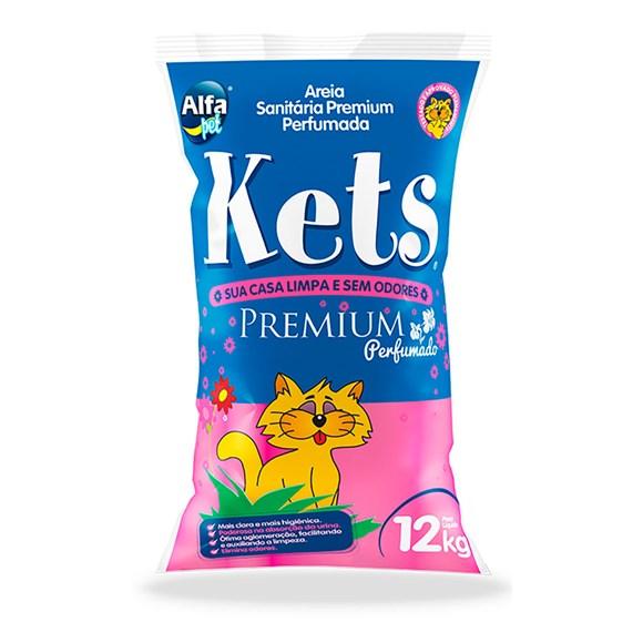 Areia Higiênica Kets Premium Perfumada Gatos – 12kg