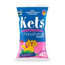 Areia Higiênica Kets Premium Perfumada Gatos – 4kg