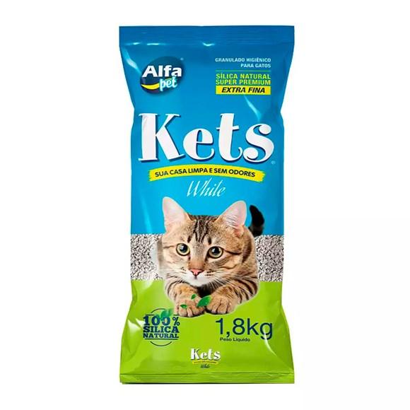 Areia Higiênica Kets White Sensitive Gatos – 1,8kg