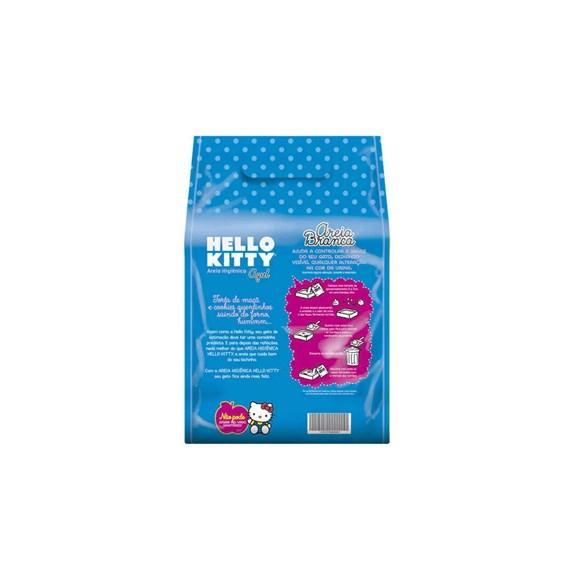 Areia Para Gato Higiênica Hello Kitty Clássica Fina 2kg Azul