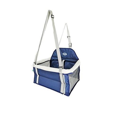 Assento Cadeirinha Para Cachorro Transpet Azul E Cinza