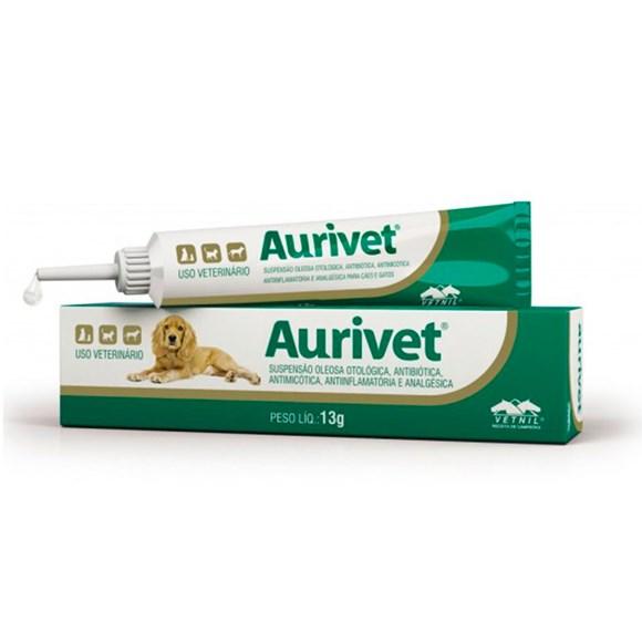 Aurivet Suspensão Oleosa Otológica Bisnaga Vetnil - 13g