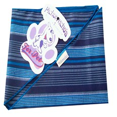 Bandana para Cachorros Adultos e Filhotes Azul listrada Pickorruchos