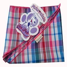 Bandana para Cachorros Adultos e Filhotes Xadrez Rosa Pickorruchos