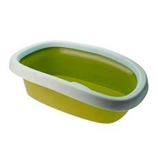 Bandeja Higiênica Com Borda Para Gatos Verde Chalesco Tam:01