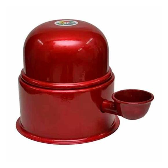 Bebedouro Alumínio Vida Mansa Vermelho - 1,4L