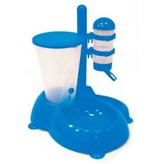 Bebedouro Automatico Com Comedouro Azul Para Cães