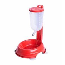 Bebedouro Automático Durapets Durafeeder Basic Vermelho