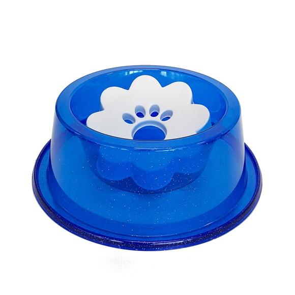 Bebedouro Cães Pet Toys Pelos Longos Azul Glitter - 1000mL
