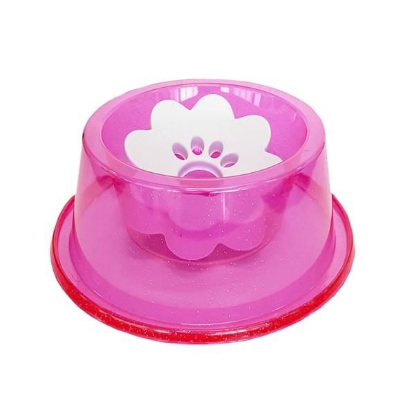 Bebedouro Cães Pet Toys Pelos Longos Rosa Glitter - 1000mL
