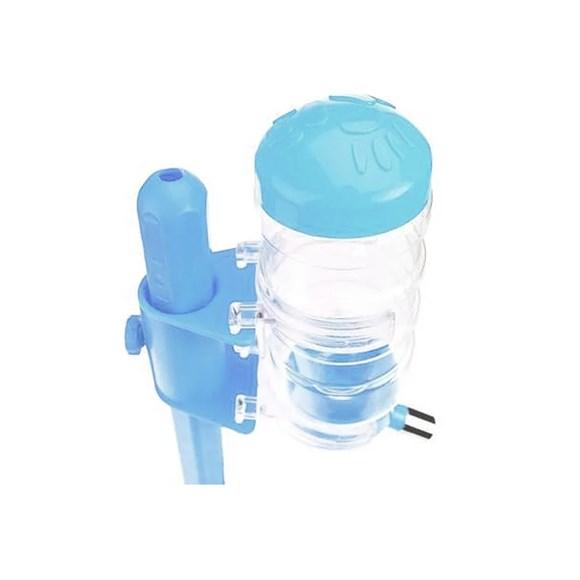 Bebedouro Com Suporte E Comedouro M Azul  Basic - Chalesco